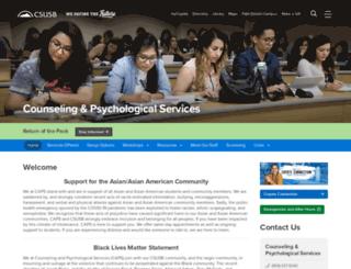 psychcounseling.csusb.edu screenshot