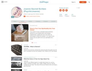 psychicjoanne.hubpages.com screenshot