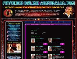 psychicsonlineaustralia.com screenshot