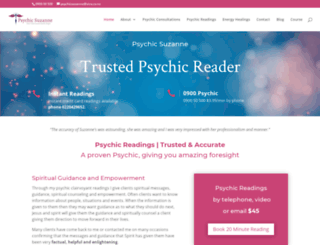 psychicsuzanne.co.nz screenshot