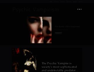psychicvampirism.com screenshot