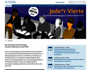 psychologische-hochschule.de screenshot
