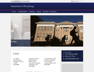 psychology.olemiss.edu screenshot
