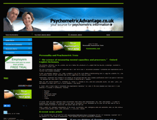 psychometricadvantage.co.uk screenshot