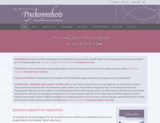 psychosynthesis.org screenshot