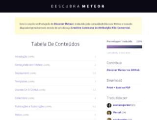 pt.discovermeteor.com screenshot