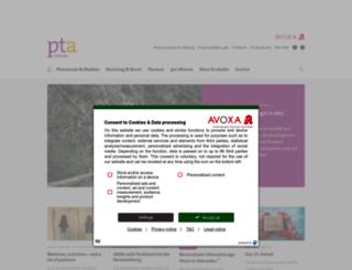 ptaforum.pharmazeutische-zeitung.de screenshot