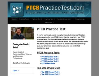 ptcbpracticetest.com screenshot