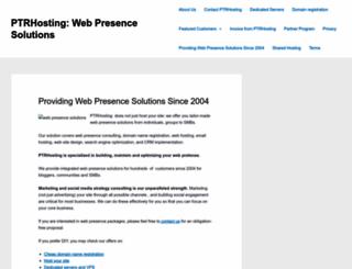 ptrhosting.com screenshot