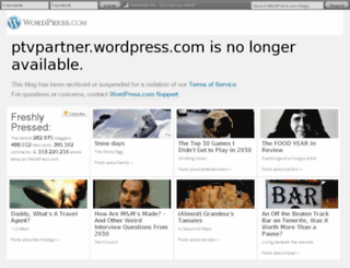 ptvpartner.wordpress.com screenshot