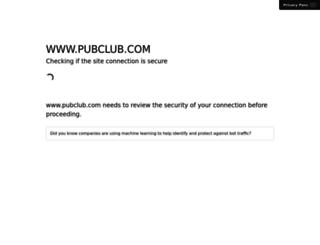 pubclub.com screenshot