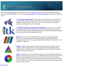 public.kitware.com screenshot