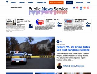 publicnewsservice.org screenshot