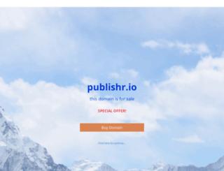 publishr.io screenshot