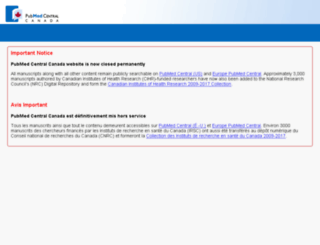 pubmedcentralcanada.ca screenshot