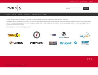 pubnix.net screenshot