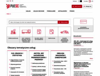 puesc.gov.pl screenshot