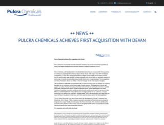 pulcra-chemicals.com screenshot