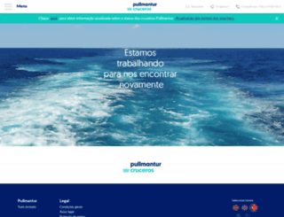 pullmantur.com.br screenshot