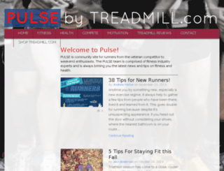 pulse.treadmill.com screenshot