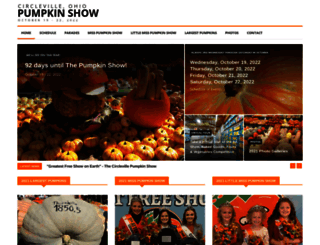 pumpkinshow.com screenshot