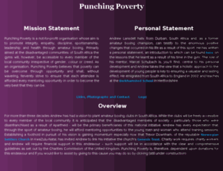 punchingpoverty.com screenshot