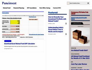 puneinvest.com screenshot