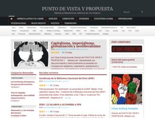 puntodevistaypropuesta.wordpress.com screenshot
