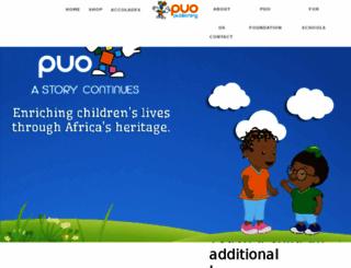 puo.co.za screenshot