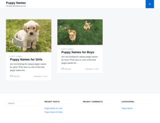 puppy-names.com screenshot