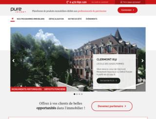 pure-invest.fr screenshot