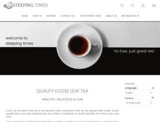 pure-tea.co screenshot