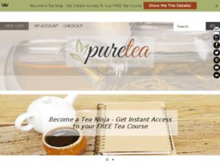pure-tea.fr screenshot