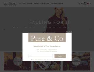 pureandco.com screenshot
