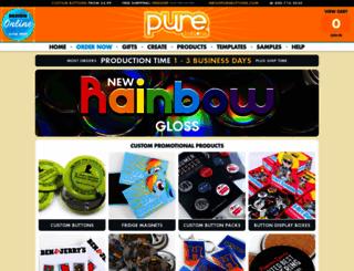 purebuttons.com screenshot