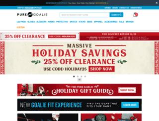 puregoalie.com screenshot