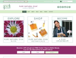 purenaturaldiva.com screenshot