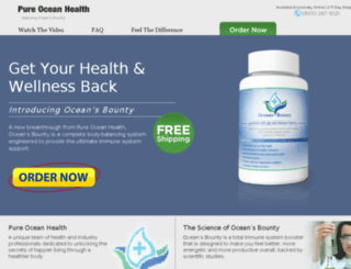 pureoceanhealth.com screenshot