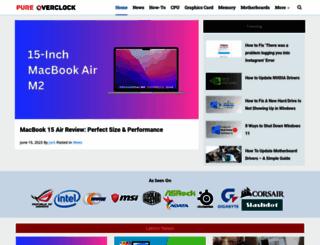 pureoverclock.com screenshot