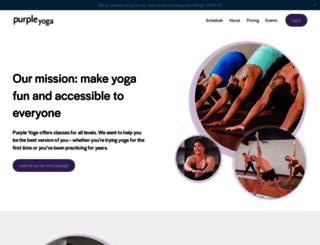 purpleyogastudio.com screenshot