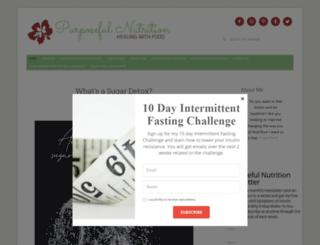 purposefulnutrition.com screenshot