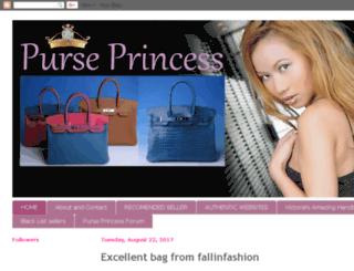 purse-princess.blogspot.com screenshot