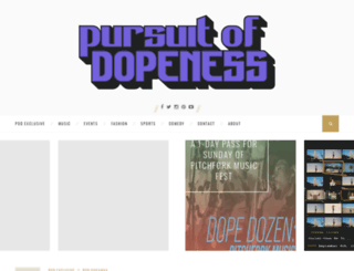 pursuitofdopeness.com screenshot