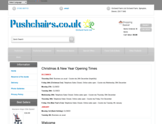 pushchairs.co.uk screenshot