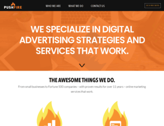 pushfire.com screenshot
