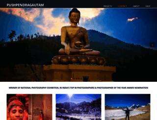 pushpendragautam.in screenshot