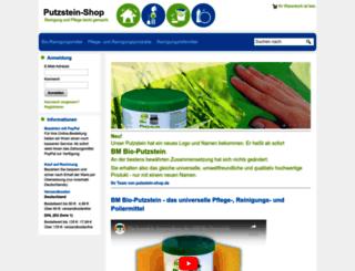 putzstein-shop.de screenshot