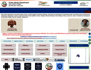 pwddelhi.gov.in screenshot