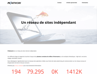 pxnetwork.fr screenshot
