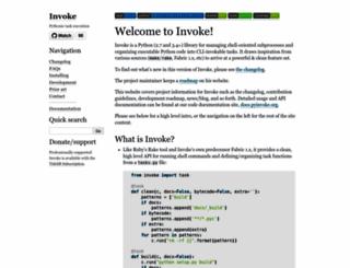 pyinvoke.org screenshot